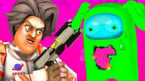 Видео Among Us 4: Побег (Ной Амонг Ас Импостер Scary Teacher 3D Анимация)