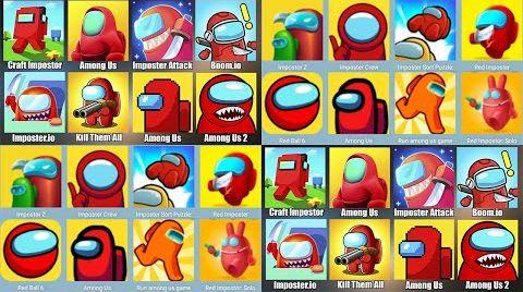 Видео Among Us,Red Imposter,Red Ball 4,Craft Impostor,Boom io,Амонг Ас NOOB vs PRO vs HACKER