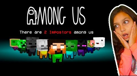 Видео AMONG US уничтожает МАЙНКРАФТ ШКОЛУ в ЛАЙК ТИКТОК! Амонг Ас Minecraft Не засмейся ЧЕЛЛЕНДЖ Валеришка