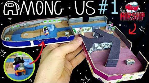 Видео Лепим НОВУЮ КАРТУ из Among Us!!!, НЕ КЛИКБЕЙТ !!! амонг ас новая карта ! airship,