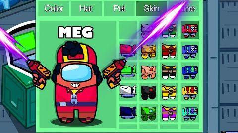Видео Meg in Among Us ◉ funny animation - 1000 iQ impostor